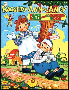 Raggedy Ann and Andy Paper Dolls and Coloring Book