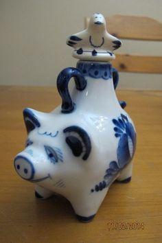 Fine Russian Porcelain Pig Teapot