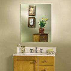 Nutone medicine cabinet Frameless glass 52WH304DPF