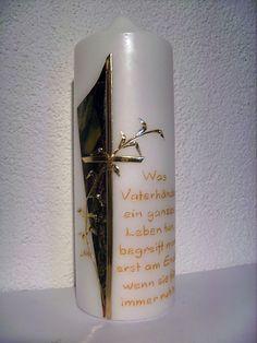 Kerzen-Design Bärbl: Trauer Pillar Candles, Design, Candles