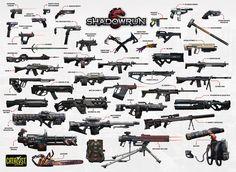 Catalyst Game Labs : Shadowrun Run & Gun Limited Edition Poster...
