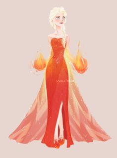 Fire Elsa by muttonfudge Disney Love, Disney Magic, Disney Art, Disney Style, Frozen Art, Elsa Frozen, Disney Frozen, Frozen Stuff, Disney And Dreamworks