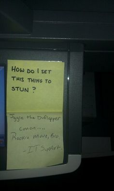Note found on printer at work