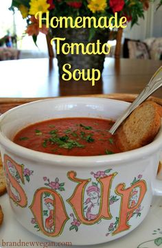Tomato Soup has always been comfort food at its best.  A simple recipe with simple ingredients, completely plant-based, using real, whole foods.