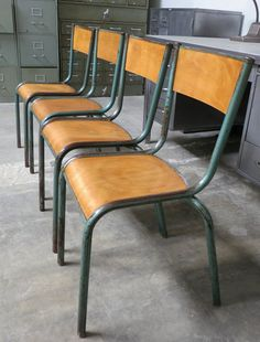 French Vintage Industrial Factory Chairs At Industrielle Attitude 4763  Eagle Rock Blvd. Los Angeles,