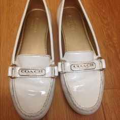 Coach shoes Beautiful and very comfortable white Coach shoes. Worn once. Great  condition . Coach Shoes Flats & Loafers
