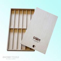 Sammelbox Sortierbox Holz Box für Malstifte Stifte Bohrer Werkzeug Pinsel Kreide