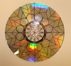 Step by step directions for a Mandala project that begins with an old cd--beautiful project with lots of math.