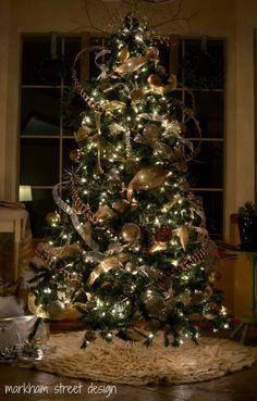 New Spirit With Rustic Christmas Decorating Ideas : Beautiful Rustic Christmas Tree By Markham Street Design | best stuff