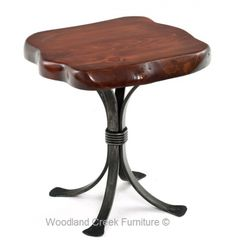 Natural Live Edge Side Table by Woodland Creek Furniture.