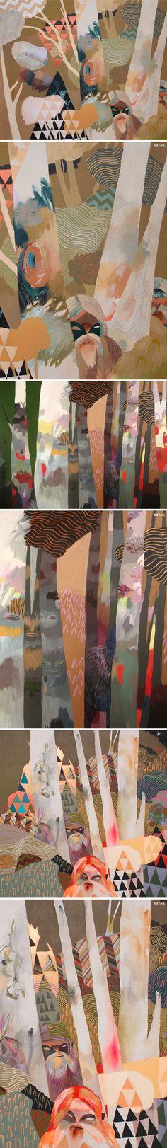 acrylic paintings by meghan hildebrand