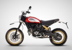 For Ducati announced two new variations in the Scrambler family: the sporty Café Racer and the off-road focused Desert Sled. Moto Scrambler, Enduro, Ducati Scrambler Custom, Ducati 1299 Panigale, Ducati Hypermotard, Ducati Motorcycles, Motorcycles For Sale, Standard Motorcycles, Custom Motorcycles
