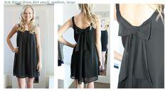 Silk blend black dress