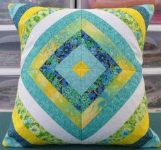 like this pillow...would be a beautiful quilt pattern