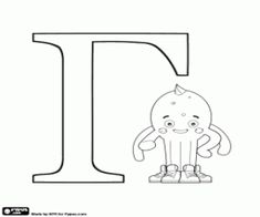 Pypus and the Greek letter Gamma coloring page printable game Free Coloring Pages, Coloring Books, Greek Alphabet, Online Drawing, Snoopy, Printables, Lettering, Therapy, Crafts