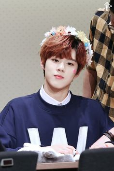 UP10TION wooshin flowers in hair