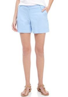 Available in a variety of colors, these Crown & Ivy™ shorts can be styled with your favorite polo for a preppy look. Petite Outfits, Short Outfits, White Shorts Womens, Women's Puffer Coats, Tankini With Shorts, Belted Shorts, Women's Shorts, Seersucker Shorts, Petite Shorts