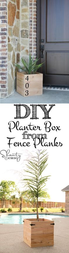 Super easy and inexpensive DIY Planter Boxes from fence material!!! #diyproject #planterboxes #curbappeal