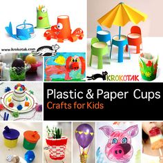 Plastic & Paper cups - Crafts for Kids