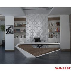 New Hot Fashion top level office competitive office desk Office Cabin Design, Modern Office Design, Office Furniture Design, Office Interior Design, Office Interiors, Modern Office Table, Modern Desk, Office Desk, Reception Table Design