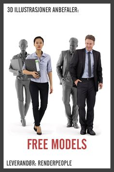 Use our free People to create photorealistic visualizations and to save valuable post-production time. Get free Posed, Rigged & Animated People here!