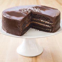 Chocolate-Caramel Layer Cake via America's Test Kitchen