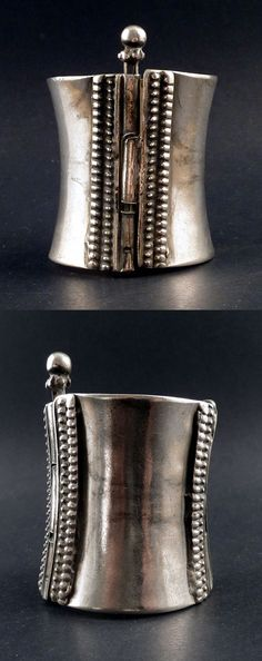 India | Old silver tribal cuff | Heavy; good silver content | ca. End 19th to early 20th century | 450€