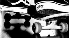 vans on a skateboard