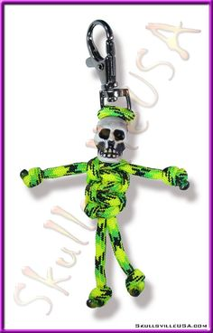 "Parabuddy with ""Crypt Keeper"" skull bead from SkullsvilleUSA.com"