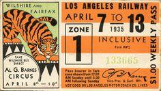 LA Railway: Al G. Barnes Circus, 1935 by danagraves Vintage Graphic Design, Retro Design, Graphic Design Illustration, Vintage Designs, Print Design, Vintage Packaging, Vintage Labels, Vintage Ephemera, Typography Logo