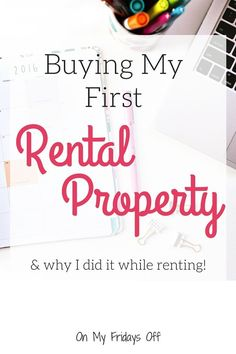 Have you thought about buying your first rental property but not sure it's the right time? Do you still rent a house yourself? There are benefits to buying a rental before you buy your own primary residence! Buying A Rental Property, Investment Property, Renting A House, Home Buying, Money Saving Challenge, Saving Money, Saving Tips, Rent To Own Homes, Tips