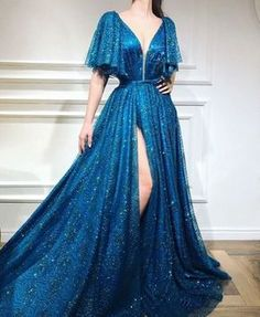 A-line Floor-length Sequined Prom Dress, Unique Sweetheart Long Prom Dresses - Style Evening Dresses Unique Prom Dresses, Elegant Dresses, Pretty Dresses, Awesome Dresses, Affordable Dresses, Beautiful Gowns, Dream Dress, Ideias Fashion, Ball Gowns