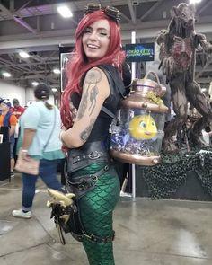 Cosplay de Steampunk Ariel en Fan-X, Ariel Cosplay, Comic Con Cosplay, Cosplay Diy, Disney Cosplay, Cosplay Dress, Cosplay Outfits, Best Cosplay, Steampunk Cosplay, Steampunk Belle