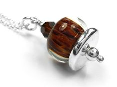 Lampwork Glass Pendant - Chestnut Glass Pendants, Glass Beads, Pendant Design, Silver Beads, Sterling Silver Jewelry, Swarovski Crystals, Pure Products, Accessories, Jewelry Accessories