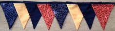 Halloween Fabric Bunting by MollyFelicityDesigns on Etsy, £10.00