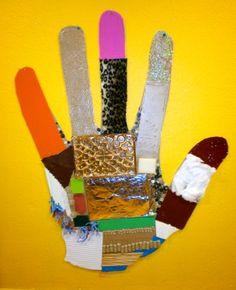 mano con texturas