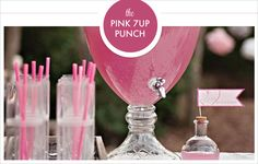 Pink 7UP Punch - Two 2 liters of 7up, One 2 liter of Squirt, Two cans of frozen pink lemonade concentrate.