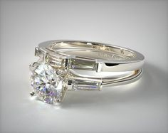 This platinum tapered baguette diamond wedding set is available with free shipping at JamesAllen.com