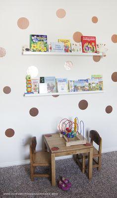 DIY // Kids Room Wall decor and Book Storage