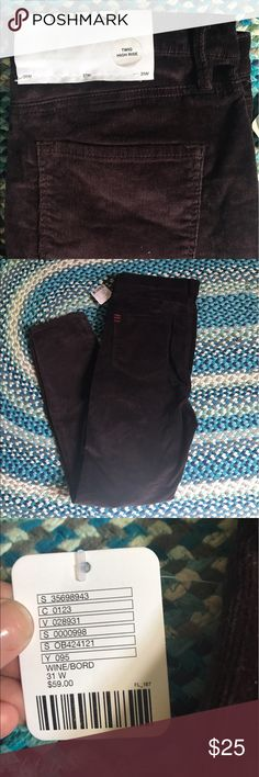 ❗️FINAL PRICE❗️BDG Twig High Rise Corduroys 🌟NWT🌟 Deep Wine Corduroy pants from BDG. Twig High Rise cut purchased at Urban Outfitters. Urban Outfitters Pants Skinny