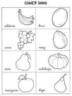 Menta Más Chocolate - RECURSOS PARA EDUCACIÓN INFANTIL: Vocabulario o BITS de los ALIMENTOS para colorear