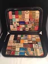 2 Antique Vintage Matchbook Old Covers OOAK 30s 40s 50s TV Tray