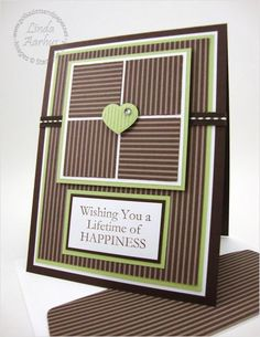 Stampin' Up! Demonstrator - Linda Aarhus - Simple to Sublime! Masculine Birthday Cards, Birthday Cards For Men, Masculine Cards, Male Birthday, Paper Cards, Cards Diy, Stampin Up, Cards For Friends, Card Sketches