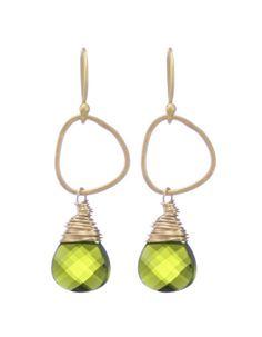 Moonrise Jewelry - Giza Earrings- Olivine Green