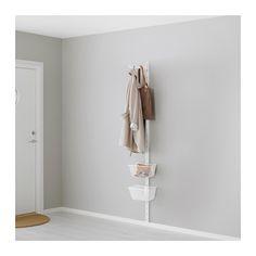 ALGOT Wall upright, basket and hook IKEA