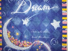 Wall Hanging  DREAM a LITTLE DREAM Quilted Wall by SewNSewSister