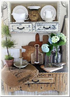 Gail's Decorative Touch: Piddling Around in the Kitchen with Vintage Finds