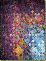 nice watercolour concept ... Blooming Nine Patch quilt