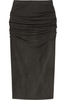Donna Karan Ruched stretch-jersey pencil skirt $595