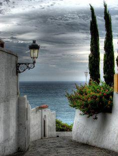 | ♕ | Down to the Sea - Nerja, Malaga, Spain | by © Lui G. Marín